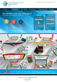 Modern website template with flat style infographics layout Stock Images