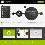 Modern Website Template minimalistic design Royalty Free Stock Image