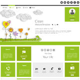 Modern Website Template minimalistic design Stock Photos