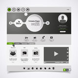 Modern Website Template minimalistic design Royalty Free Stock Images