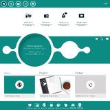 Modern Website Template minimalistic design Royalty Free Stock Image