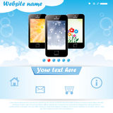 Modern website template for mobile company Royalty Free Stock Images