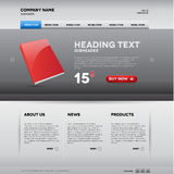 Modern website template with nice button Stock Photography