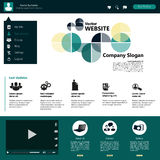 Modern Website Template, Trendy Clear Design Stock Images