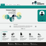 Modern Website Template, Trendy Clear Design Royalty Free Stock Photo