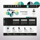 Modern Website Template, Trendy Clear Design Royalty Free Stock Photos