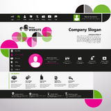 Modern Website Template, Trendy Clear Design Royalty Free Stock Images