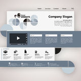 Modern Website Template, Trendy Clear Design Stock Photography