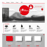 Modern Website Template Stock Photos