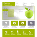Modern Website Template Stock Photography