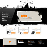 Modern Website Template Royalty Free Stock Images