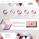 Modern Website Template Royalty Free Stock Photography
