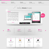 Modern Website Template Royalty Free Stock Image