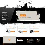 Modern websitemalplaatje Royalty-vrije Stock Afbeeldingen