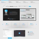 Modern websitemalplaatje Stock Afbeelding
