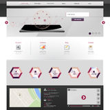 Modern websitemalplaatje Stock Fotografie