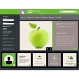 Modern Websitemalplaatje EPS 10 Vectorillustratie Stock Afbeelding