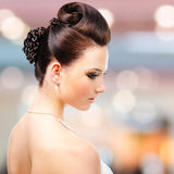 Modern wedding hairstyle Stock Images