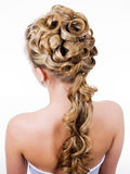 Modern wedding hairstyle Royalty Free Stock Photo