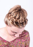 Modern weddting hairstyle Royalty Free Stock Image