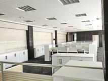 Modern Werkend bureau Royalty-vrije Stock Foto