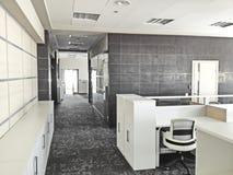 Modern Werkend bureau Stock Foto's