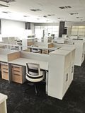 Modern Werkend bureau Stock Afbeelding