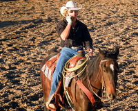 Modern Western Cowboy Stock Photography