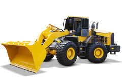 Modern wheel loader with yellow color Royalty Free Stock Photo