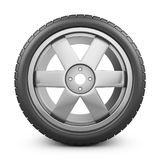 The modern wheel. Modern wheel on a white background. 3d rendering Royalty Free Stock Images