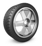 The modern wheel. Modern wheel on a white background. 3d rendering Stock Image