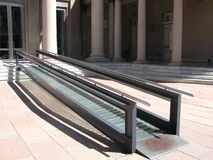 Modern wheelchair ramp Stock Images