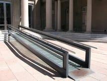 Modern wheelchair ramp Stock Images