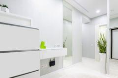 Modern white apartment hallway Stock Photos