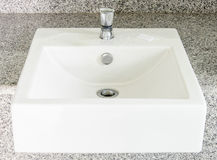 Modern white basin Stock Photo