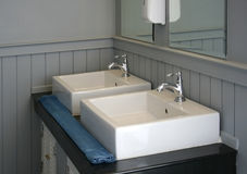 Modern white basin Stock Photo