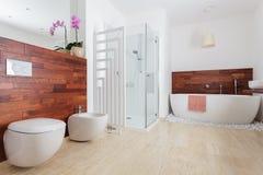 Modern White Bathroom Stock Images