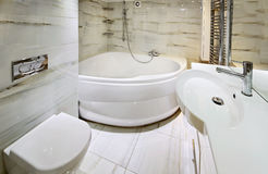 Modern white bathroom interior Royalty Free Stock Image