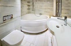 Modern white bathroom interior Royalty Free Stock Image