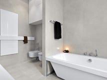 Modern white bathtub for bathroom Stock Photos