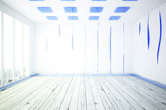 Modern white and blue interior Stock Image