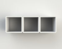 Modern White Book Shelf on the Wall Royalty Free Stock Photos