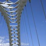Modern white bridge Stock Photos