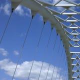 Modern white bridge Stock Photo