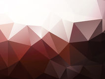 Modern white and brown triangular background Stock Photography