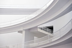 Modern white building. With diferent levels corridor Stock Images