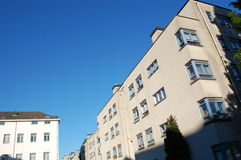 Modern white buildings. In perspective Royalty Free Stock Images