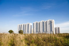 Modern white buildings royalty free stock images