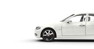 Modern White Car Cutout Right Royalty Free Stock Image