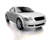 Modern white car front view Stock Photo